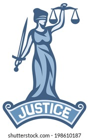 a goddess of justice label