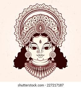 Goddess Lakshmi. Hindu god.