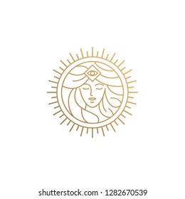 goddess line logo design