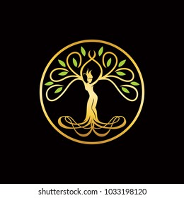The goddess Tree Logo Template