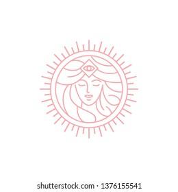 goddess woman logo design