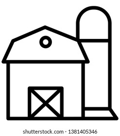 Godown Isolated Vector Icon which can easily modify or edit