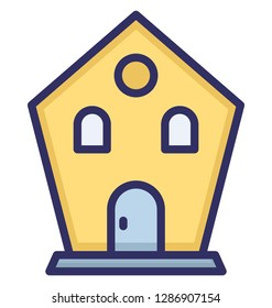 Godown, secure storage, Isolated Vector Icon which can be easily edit or modified.