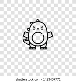 godzilla icon from  collection for mobile concept and web apps icon. Transparent outline, thin line godzilla icon for website design and mobile, app development