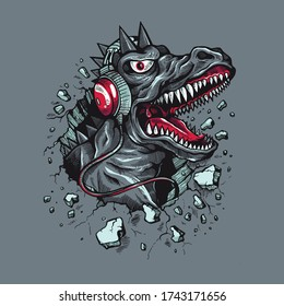 Godzilla King of The Monsters T-shirt Design Vector Illustration