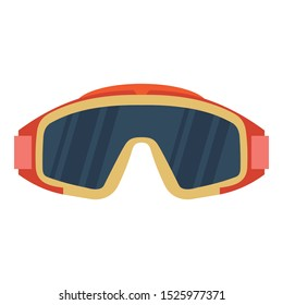Goggles Isolated Vector Illustration Icon editable