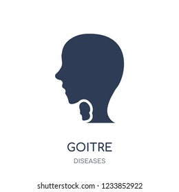 Goitre icon. Goitre filled symbol design from Diseases collection. Simple element vector illustration on white background