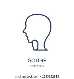 Goitre icon. Goitre linear symbol design from Diseases collection. Simple outline element vector illustration on white background