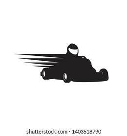 Gokart Racer Silhouette Symbol Design