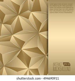 Gold Abstract Background Flyer