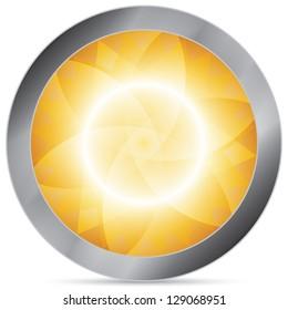 gold abstract circle