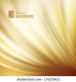 Gold abstract swirl. Vector illustration