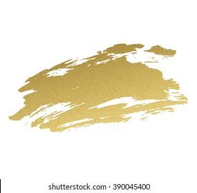 Gold acrylic paint. Vector illustration EPS 10