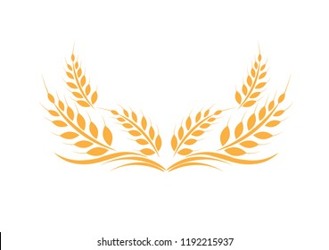 Gold Agriculture wheat Logo Template vector icon design.vector illustration EPS 10.