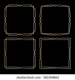 gold art deco frames