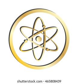 Gold Atomic Symbol Icon