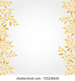 Gold Autumn leaves Background