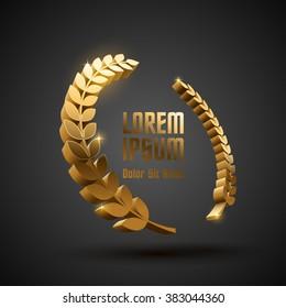Gold award laurel wreath