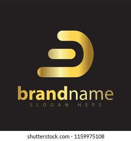 gold B Letter Logo Icon Vector