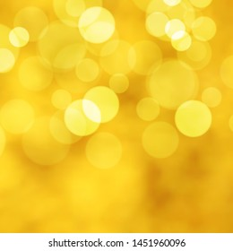Gold background with bokeh lights
