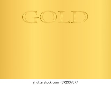 gold background, lettering gold, yellow, precious metal, vector