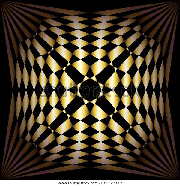 Gold Background. Soft light, optical Illusion. Vector illustration EPS10
