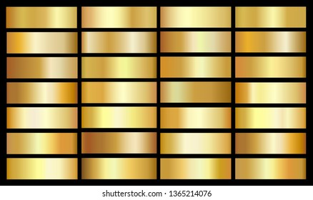 Gold background texture vector icon seamless pattern. Set of gold gradients.Vector illustration.