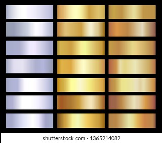 Gold background texture vector icon seamless pattern. Set of gold silver gradients, texture. Vector illustration EPS10