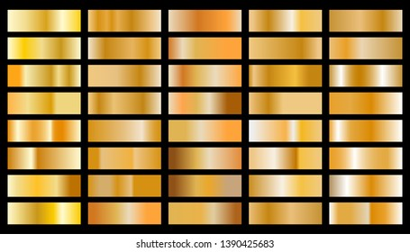 Gold background texture vector icon seamless pattern. Set of gold gradients.Vector illustration  eps10.