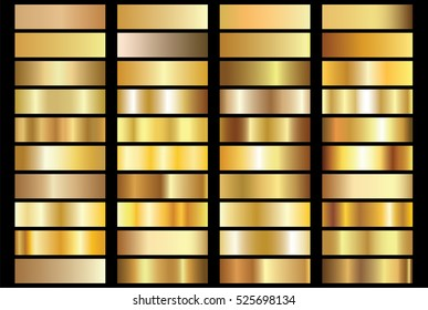 Gold background texture vector icon seamless pattern. Light, realistic, elegant, shiny, metallic and golden gradient illustration. Mesh vector. Design for frame, ribbon, coin, abstract