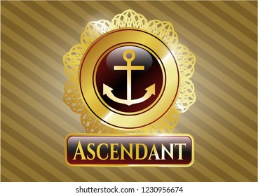 Gold badge with anchor icon and Ascendant text inside
