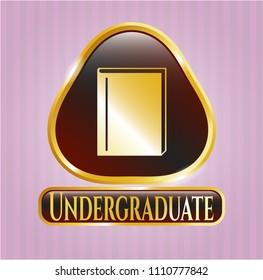 Gold badge with book icon and Undergraduate text inside