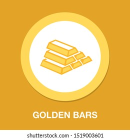 gold bar icon, golden bars, money symbol