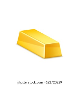 Gold bar isolated. Vector icon.