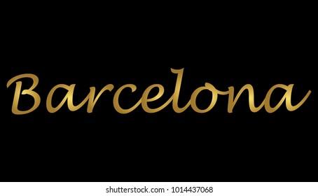 Gold Barcelona Writing