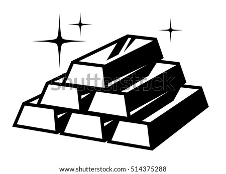 Gold Bars Icon Stock Vector (Royalty Free) 514375288 ...