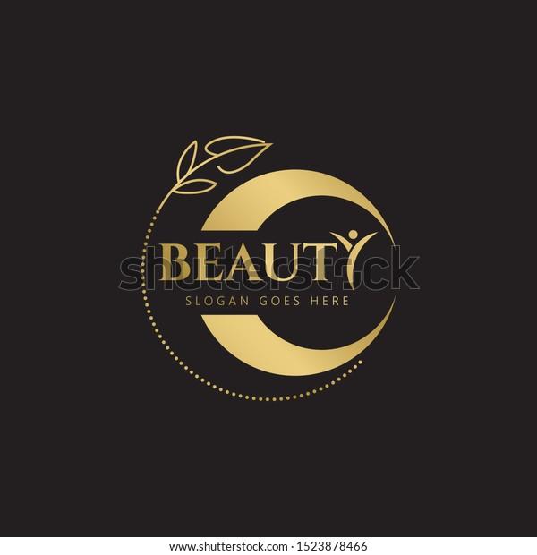 Gold Beauty Logo Templates Modern Logo Stock Vector Royalty Free 1523878466