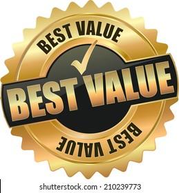 gold best value sign