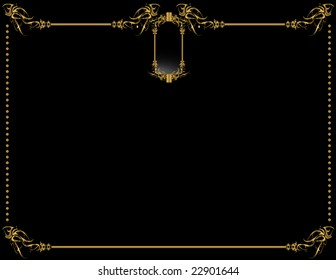 Gold Black elegant background 2 - vector