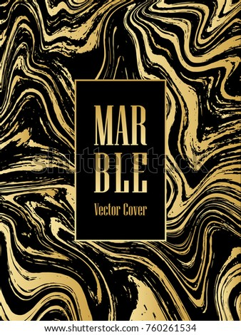 aec38c3ebb2 Gold and black marble texture minimalist vector cover background for  interior design. Golden marble stone surface texture with liquid foil  glitter