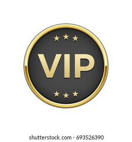 "Gold black ""Vip"" badge"
