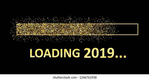 Gold Blaster Load Bar 2019. Expectation of the holiday – vector