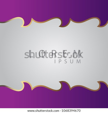 Gold Border Banner Title Label Template Stock Vector Royalty Free