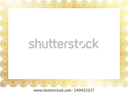 gold border certificate diploma coupon complex stock vector royalty