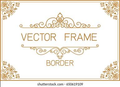 Frame Border Vector Design Png