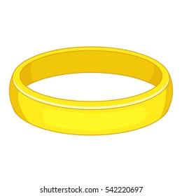 Gold bracelet icon. Cartoon illustration of bracelet vector icon for web design