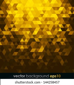Gold Bright Background With Triangle Shapes