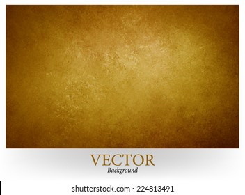 gold brown vector background, gold center and brown vignette border, abstract vintage grunge background texture, earthy country western style with bronze coloring, faux leather background design