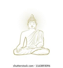Gold Buddha, vector