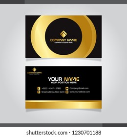 Gold business card vector illustration